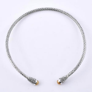 9-10 MM big South Sea Pearl Studded 925 Sterling Silver Handcrafted Chocker Necklace