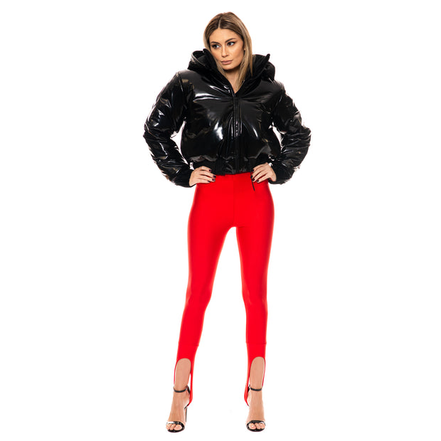 Winter Bomber Jacket din Latex