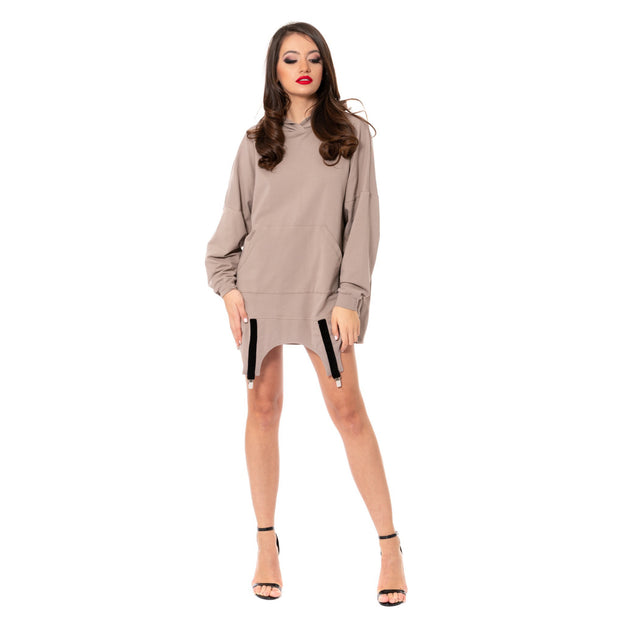 SUPER GIRL - Hoodie Dress Oversized cu Portjartier