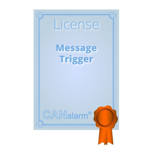 CANalarm Message Trigger License