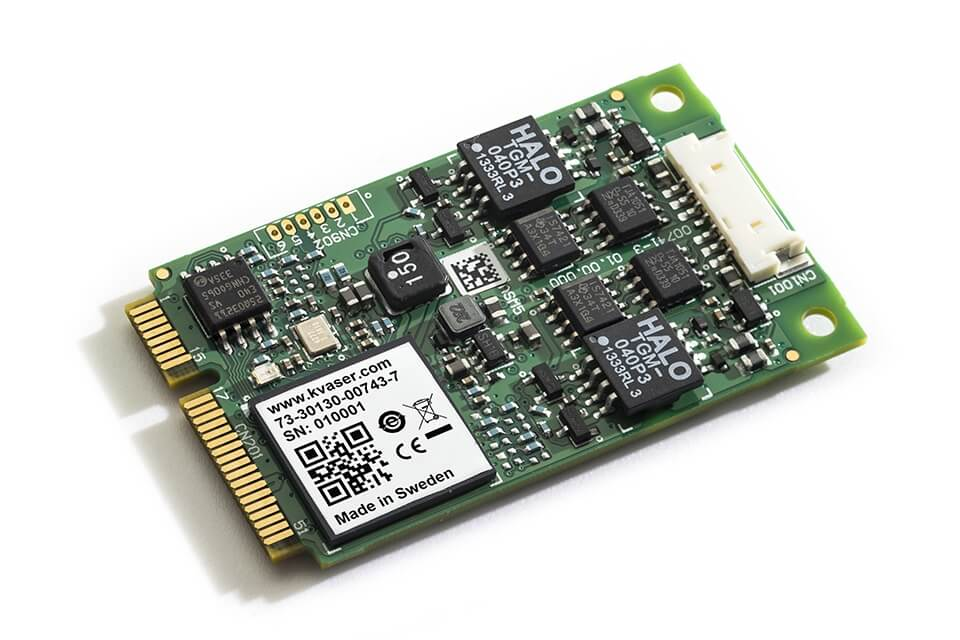 Kvaser 2-channel Mini PCI Express