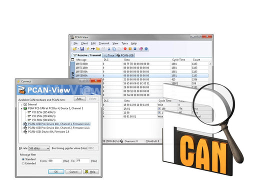 PCAN-View (Free CAN Monitor)