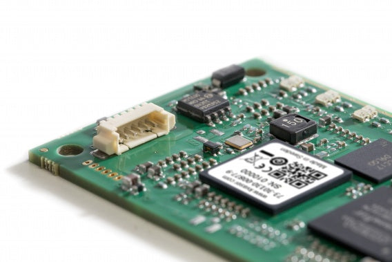 bare circuit board version of Kvaser USBcan Pro dual channel CAN interface side view