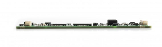 side view of bare circuit board version of Kvaser USBcan Pro dual channel CAN interface showing slim design of card