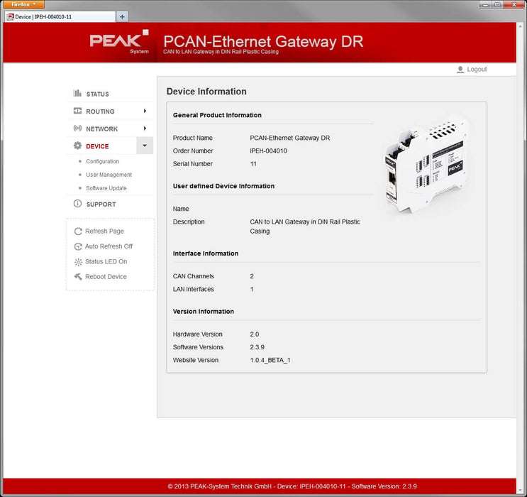 PCAN-Wireless Gateway