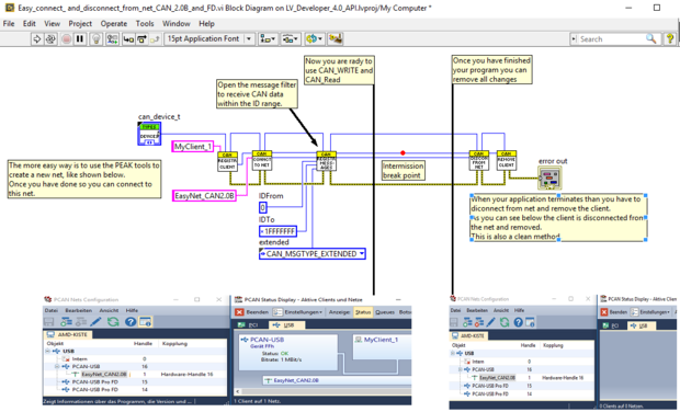 LabView Driver for PCAN-Developer