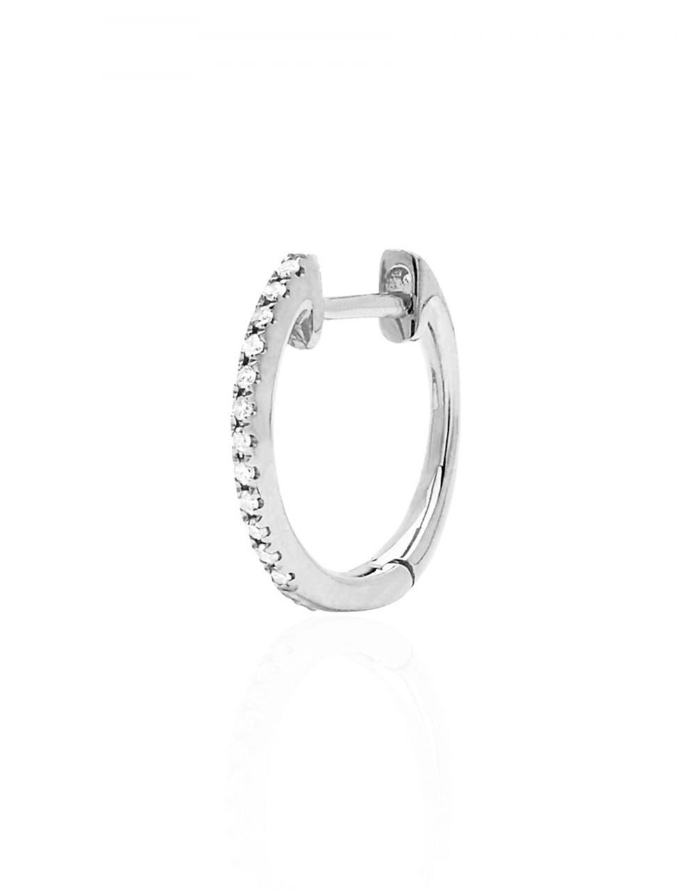 Mini Diamond Hoop Piercing<br /><i><small>14K White Gold with White Diamonds</small></i><br /> - Eddera