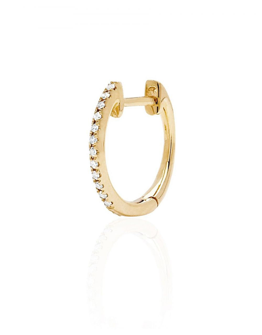 Mini Diamond Hoop Piercing<br /><i><small>14K Yellow Gold with White Diamonds</small></i><br /> - Eddera