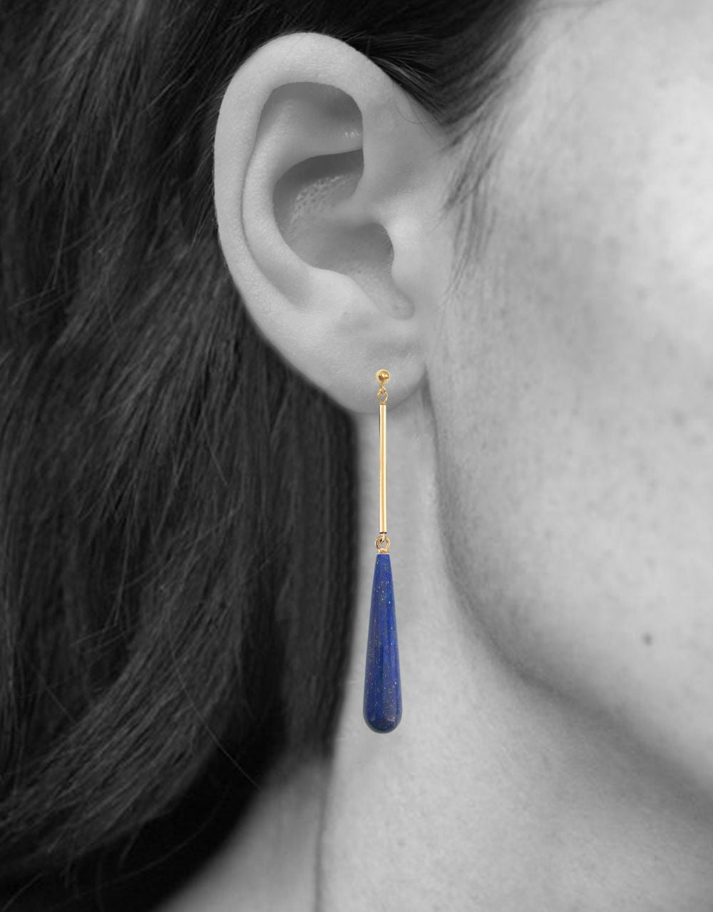 AMBROSIA EARRINGS | 14K Yellow Gold with Lapis Lazuli - Eddera