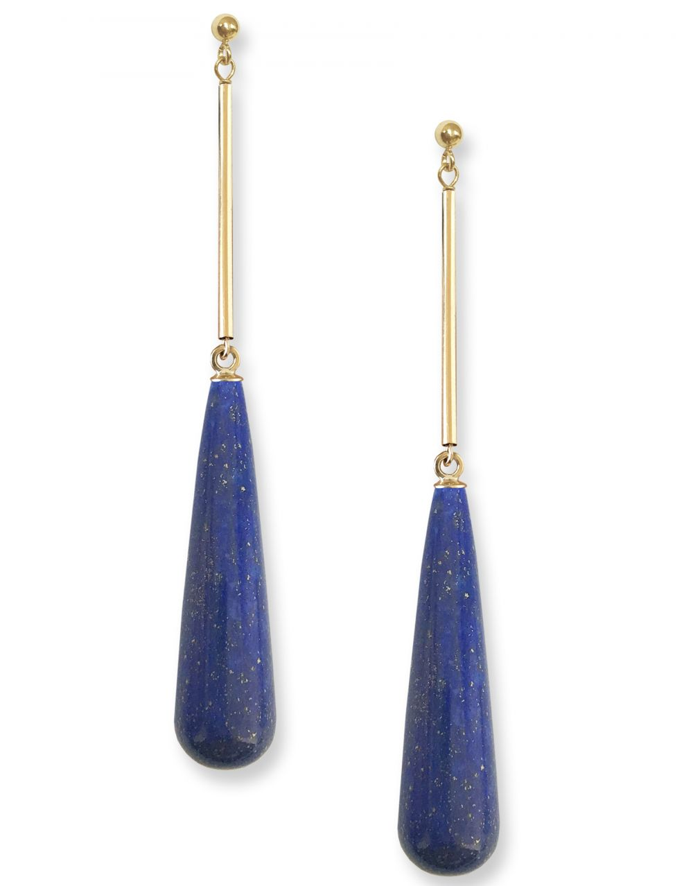 Ambrosia Earrings<br /><i><small>14K Yellow Gold with Lapis Lazuli</small></i><br />