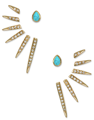 Catherine Ear Jackets<br /><i><small>18K Gold Plated with Natural Gemstones</small></i><br />