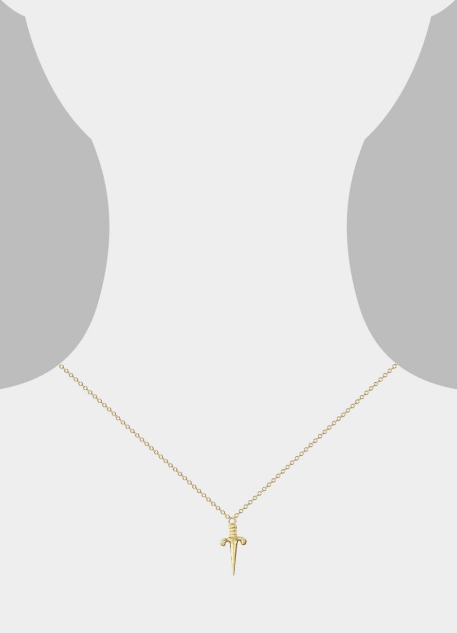 Dagger Necklace<br /><i><small>14K Yellow Gold</small></i><br />