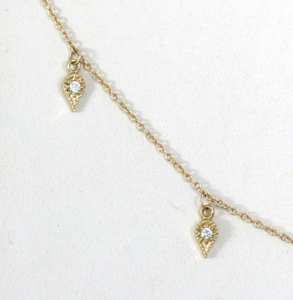 EMILY NECKLACE | 14K White Gold with White Diamonds - Eddera