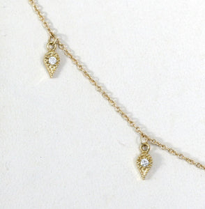Emily Necklace<br /><i><small>14K White Gold with White Diamonds</small></i><br />
