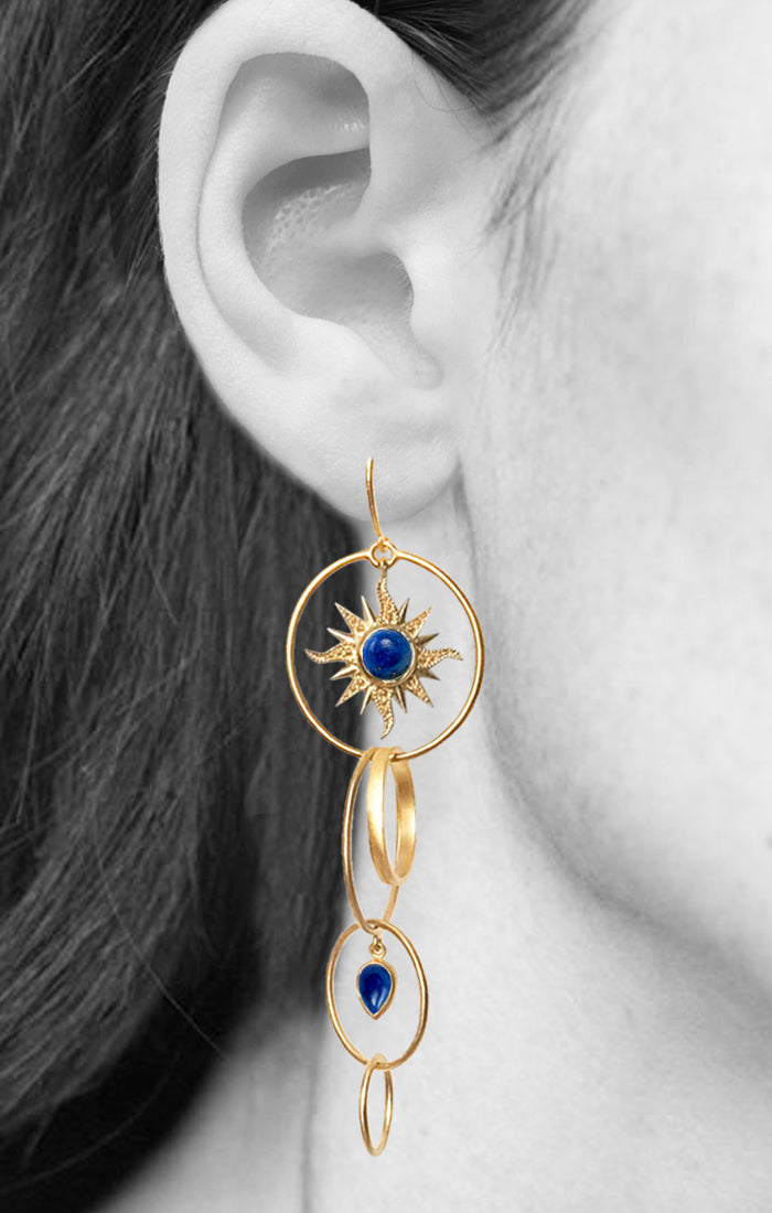 DAWN EARRINGS | 18K Gold Plated with Lapis Lazuli - Eddera