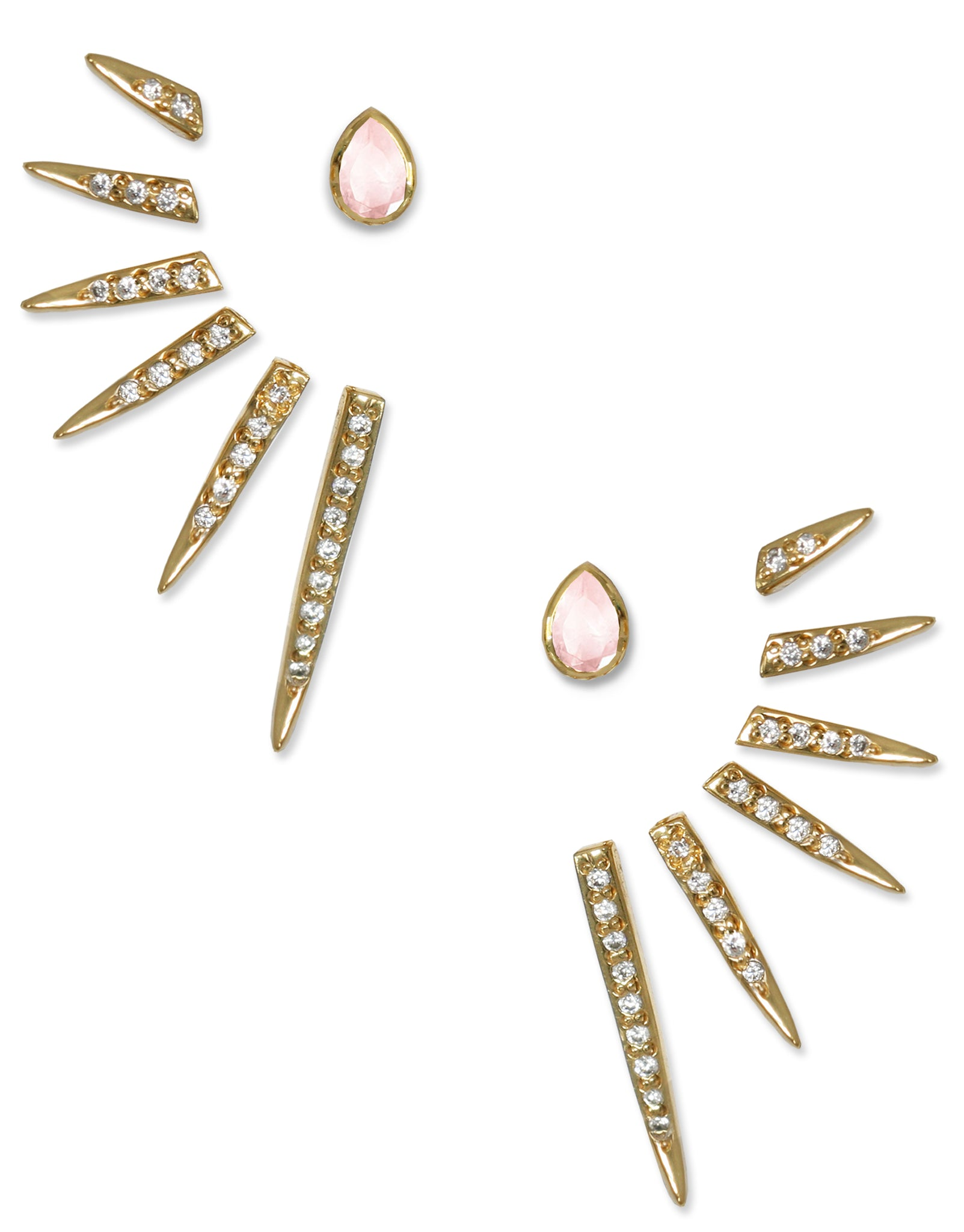 CATHERINE EAR JACKETS | 18K Gold Plated with Gemstones - Eddera