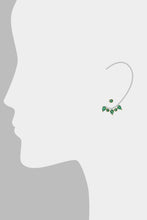 Load image into Gallery viewer, Clara Ear Jackets<br /><i><small>18K Gold Plated with Green Onyx</small></i><br />
