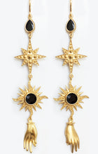 Load image into Gallery viewer, Orion Earrings<br /><i><small>18K Gold Plated with Black Onyx</small></i><br />