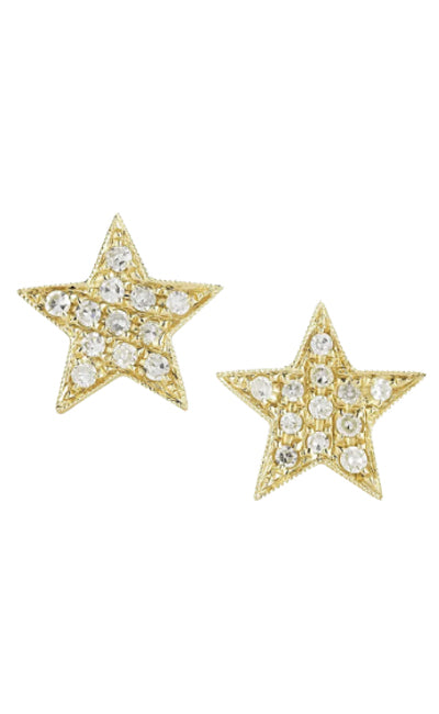 DIAMOND PAVÉ STAR STUDS | 14K