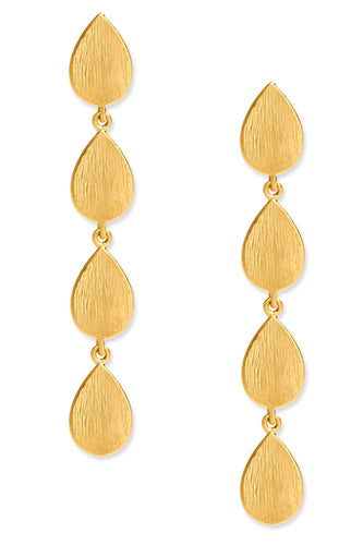 Tear Drop Earrings<br /><i><small>18K Gold Plated</small></i><br />