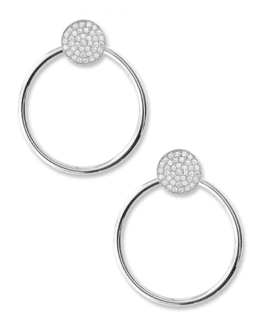 UNITY PAVÉ EARRINGS | 14K & Diamonds