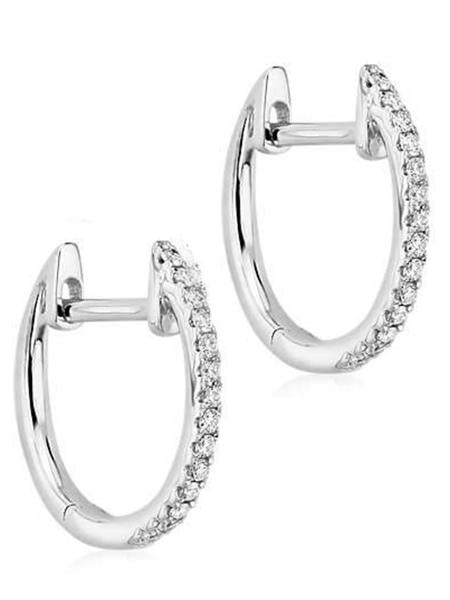 DIAMOND HUGGY EARRINGS | 14K