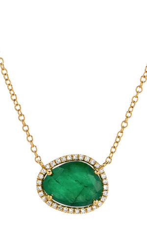 Emerald & Diamonds Necklace