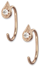 Load image into Gallery viewer, Emily Open Hoops<br /><i><small>14K Rose Gold with White Diamonds</small></i><br />