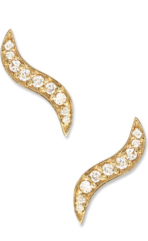 GHOST PAVÉ CLIMBER | 14K Yellow Gold with White Diamonds - Eddera