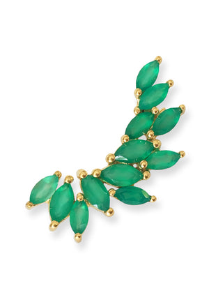 Heathcliff Ear Crawler<br /><i><small>18K Gold Plated with Green Onyx</small></i><br />