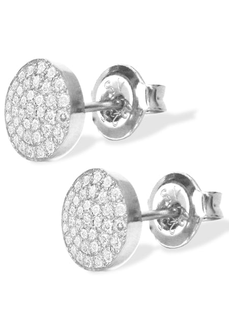 Mini Diamond Disks<br /><i><small>14K White Gold with White Diamonds</small></i><br />