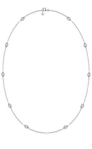Gondal Necklace<br /><i><small>14K White Gold with White Diamonds</small></i><br />