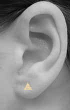 Load image into Gallery viewer, Triangle Pave Stud<br /><i><small>14K Rose Gold with White Diamonds</small></i><br />