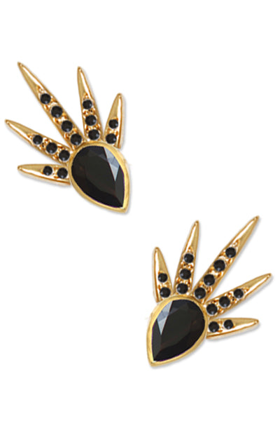Shooting Star Crawlers<br /><i><small>18K Gold Plated with Black Onyx</small></i><br /> - Eddera