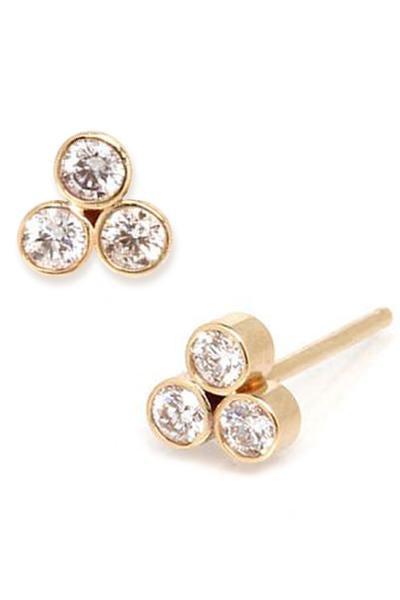 TRIO DIAMOND STUDS | 14K & Diamonds