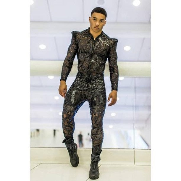 "Black ""King"" Jumpsuit"