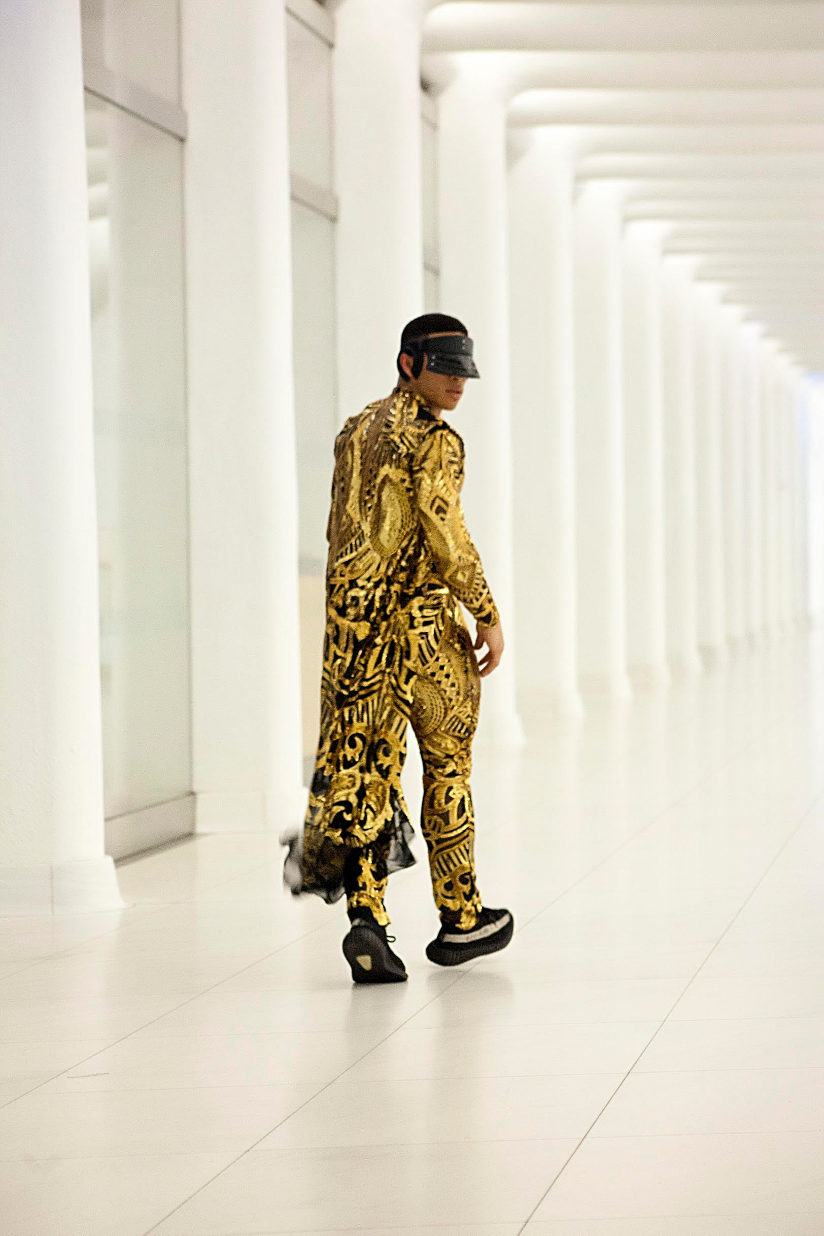 "Gold ""King"" Jumpsuit w/Cape"