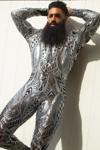 The King Jumpsuit Silver