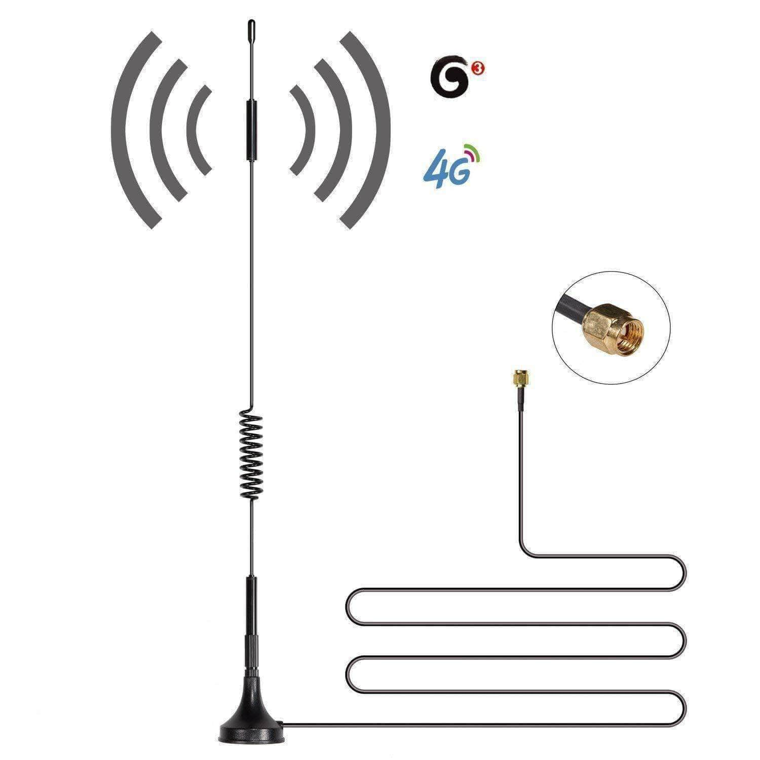 4G LTE Omni Magnet Antenna 8dBi 700 MHz(B28) SMA Male 2m LMR200 Cable