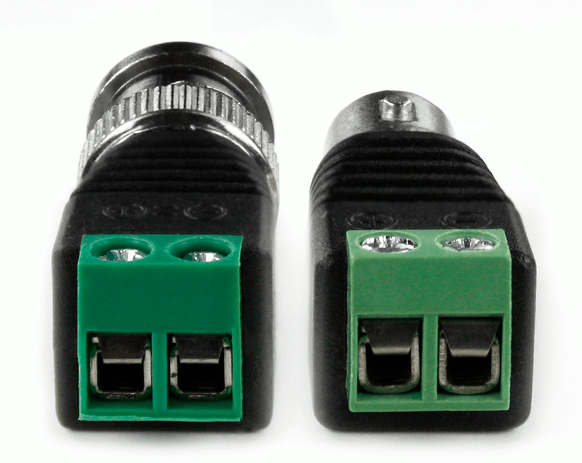 BNC Female to Terminal Screw 2-Pin Adapter