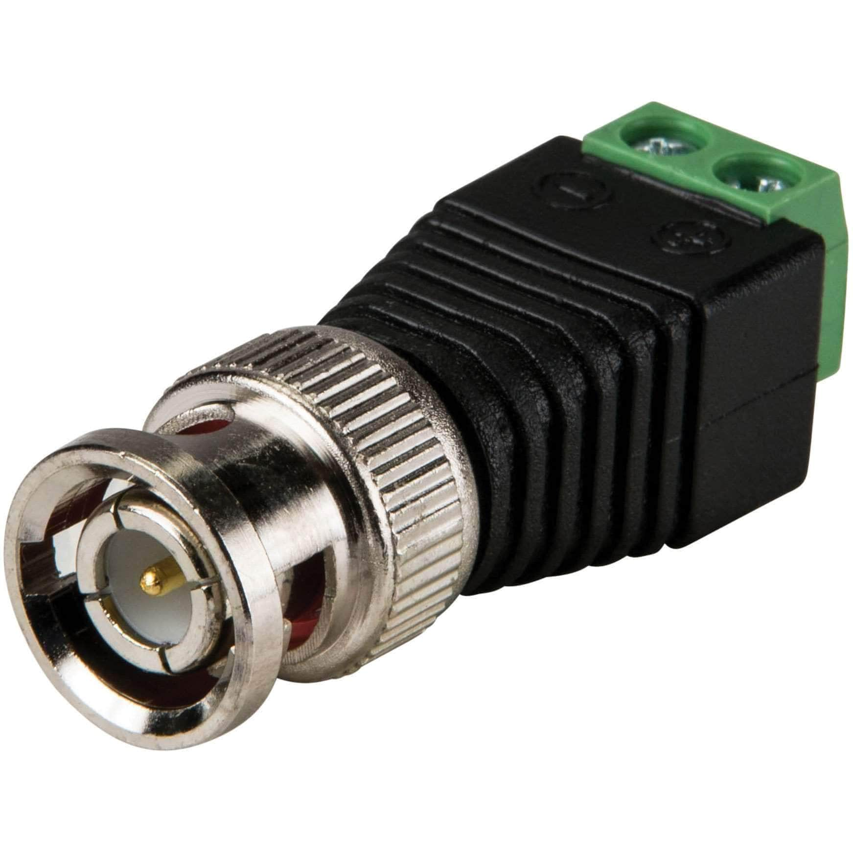 BNC Male to Terminal Screw 2-Pin Adapter