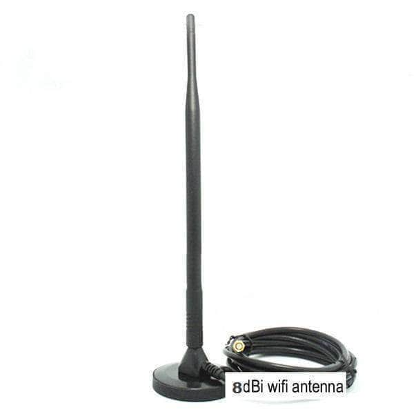 WiFi 2.4G/5.8G Dual-Band Magnet Antenna 8dBi SMA Male 2m LMR200 Cable