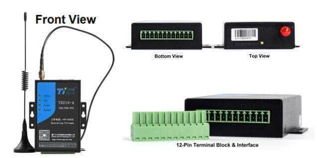 TD210 Industrial Cellular 4G Modem with Terminal Block Supports RS-232/485/422 I/O