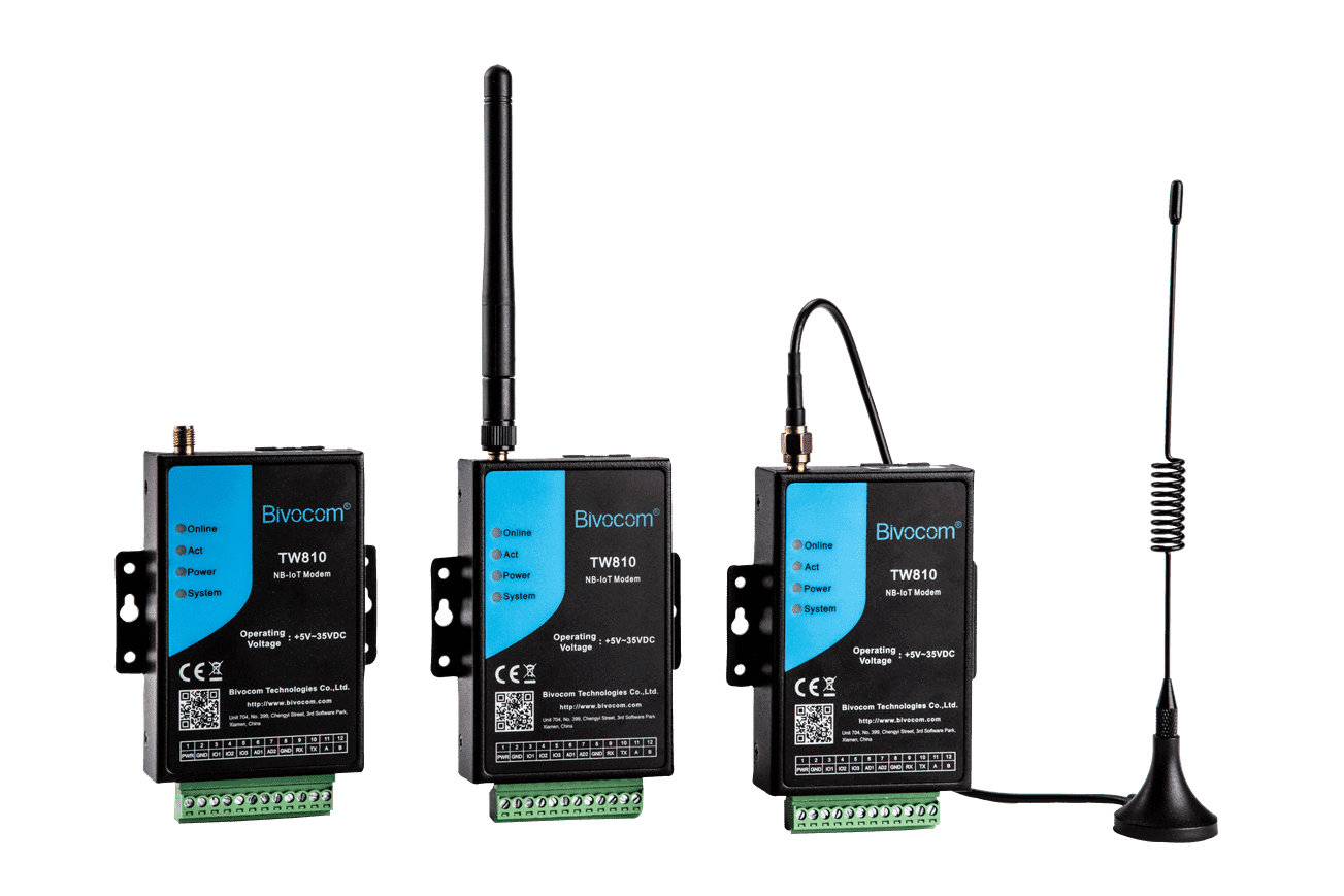 TW810 Industrial LTE CAT-M1 & NB-IoT Modem Supports RS-232/485/422 I/O