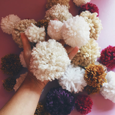 Pom Poms happy craft