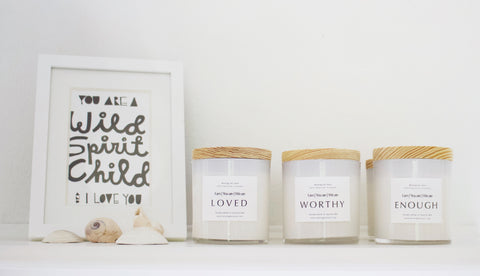 Newest Mining for Soul Affirmation Candle Collection