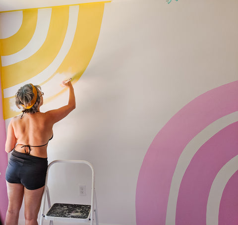 Mid-Painting my Rainbow Wall | Mining For Soul