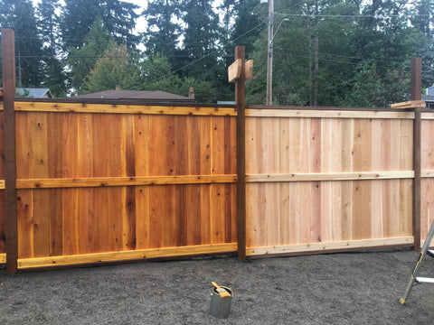 our end of summer project, building more fence