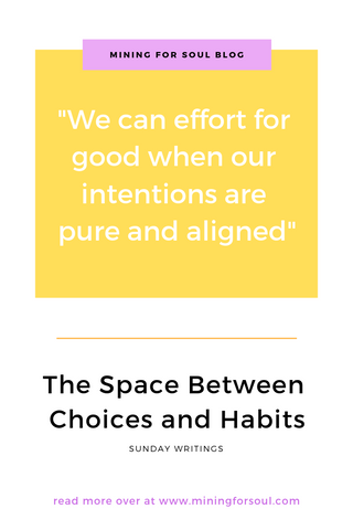 we can effort for good when our intentions are pure and aligned graphic for pinterest
