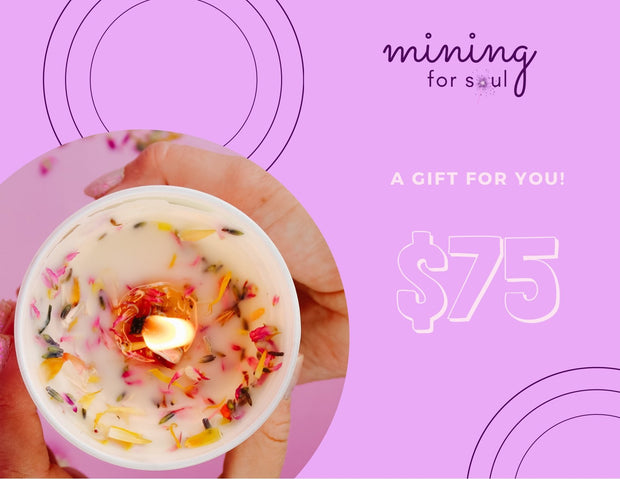 Affirmation Candle Gift Card - Mining For Soul